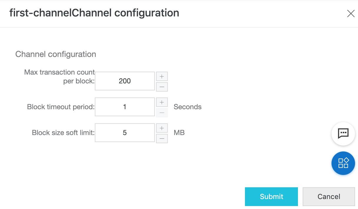 Configure block generation parameters