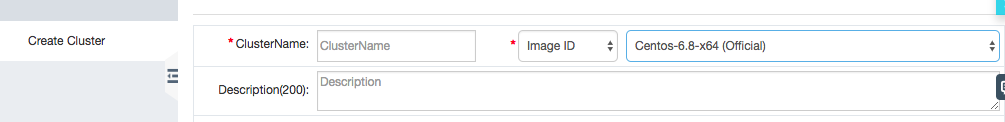 Specify an image ID when creating a cluster