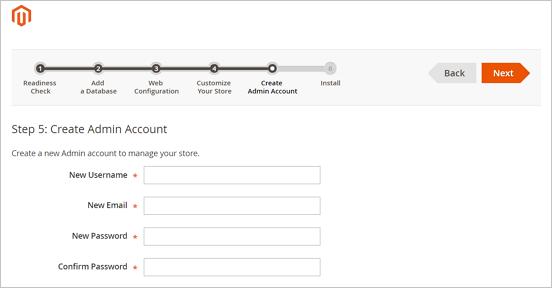 Magento_Create an admin account