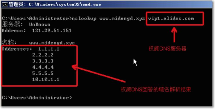 权威DNS测试生效